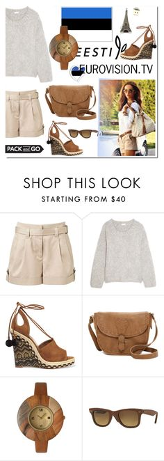 """""""Pack and Go: Rio"""" by ilona-828 ❤ liked on Polyvore featuring Michael Kors, Witchery, Chloé, Aquazzura, T-shirt & Jeans, Olivia Pratt, Ray-Ban, polyvoreeditorial, rio and Packandgo"""