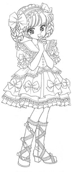 Detailed Coloring Pages, Cute Coloring Pages, Animal Coloring Pages, Adult Coloring Pages, Coloring Sheets, Moe Manga, Manga Art, Vintage Coloring Books, Fairy Coloring