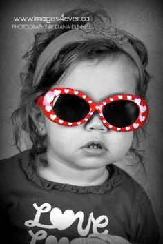 cute! love the heart sunglasses