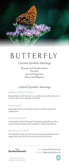 Butterfly Symbolism - Butterfly Dream Meaning, Butterfly Mythology and Butterfly Spirit Animal Meanings Full Infographic Butterfly Spirit Animal, Spirit Animal Tattoo, Butterfly Quotes, Animal Tattoos, Animal Meanings, Animal Symbolism, Symbols And Meanings, Butterfly Symbolism, Butterfly Meaning