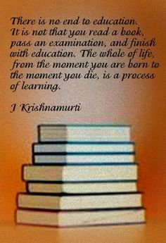 There Is No End To - J Krishnamurti