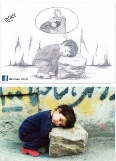 A mother's lap in #syria ~ noo... :( ... wish I could just swoop her up and just ... hold her...