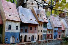 Ceramic Houses - Andrei Pandea Ceramics Ceramic Houses, Miniature Houses, Little Houses, Sculpture, Ceramics, Outdoor Decor, Artist, Home Decor, Ceramica
