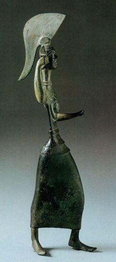 Etruscan Menrva Goddess. Bronze, 5th century B.C.E.