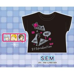 ムービックTHE IDOL M@STER SideM Tシャツ/S.E.M: キャラグッズmovic