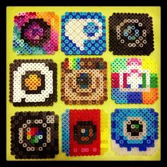 App Icons perler beads by Perler Beads Art Studio