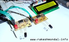 Single and Dual IR infrared sensor Interface with LCD on Arduino Uno Development board.   http://www.rakeshmondal.info/IR-Infrared-Sensor-Interface-lcd-Arduino-uno