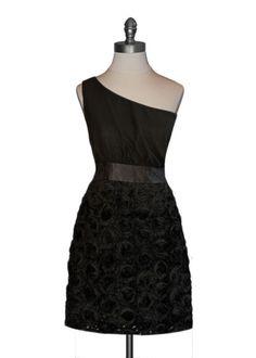 Black Rosette Dress, Moon Collection #lbd
