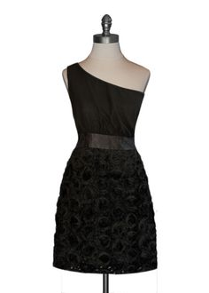Black Rosette Dress, Moon Collection #lbd