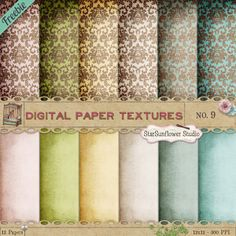 Free Damask Digital Scrapbooking Papers & Missing Punchtab Redeemer - StarSunflower Studio