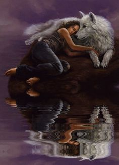 The wolf and I… Wolf Images, Wolf Pictures, Wolf Spirit, My Spirit Animal, Fantasy Wolf, Fantasy Art, Native Art, Native American Indians, Beautiful Creatures