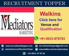 Mediators Walkins for Freshers at Chennai http://www.recruitmenttopper.com/mediators-walkins-for-freshers/