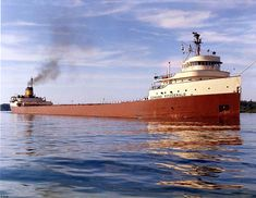 On Nov. 10, 1975, the Arthur M. Anderson, trailing 9 miles behind the Edmund Fitzgerald, made radio contact shortly before 7:10pm in a wild gale and blizzard ravaging Lake Superior.  Big Fitz gave no indication of distress, but within minutes, her lights disppeared, and she no longer showed on radar.  Like other long boats in November storms, Big Fitz had broken in two and sank quickly taking her full crew of 29 to the bottom.