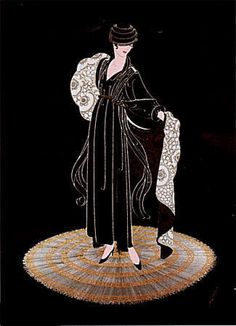 Erte Winter in Paris 2000 Erte Prints, Art Nouveau, Erte Art, Romain De Tirtoff, Art Deco Artists, Fashion Illustration Vintage, Flat Illustration, Inspiration Art, Art Deco Movement