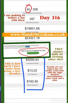 Now earning $45 a day!  Day 316 with Traffic Monsoon  FREE to sign up making money from day 1  Or to sign up simply go here -  http://www.mmgtm.moonfruit.com/