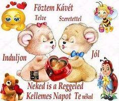 Winnie The Pooh, Good Morning, Buddha, Disney Characters, Fictional Characters, Teddy Bear, Humor, Animals, Cute Pets