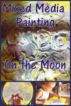 Letter M is for Moon. Moon craft. Painting the Moon for preschoolers. Creative ABCs - Preschool Alphabet Activities and Crafts.