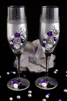 Esküvői poharak, Esküvő, Nászajándék, Meska