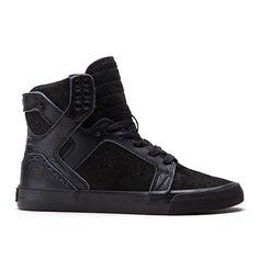 SUPRA WOMENS SKYTOP | BLACK/BROGUE - BLACK | Official SUPRA Footwear Site