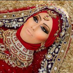 Latest Bridal Hijab Dresses Designs Collection 2016-2017 (4)