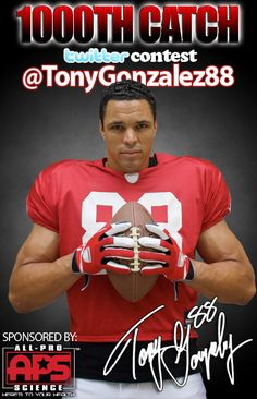 Atlanta Falcons Tight End Tony Gonzalez. think my husband would be pissed if I put his poster on the wall next to the big screen.