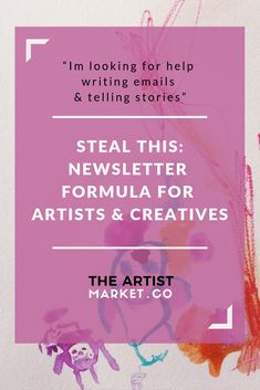 Want to have the best art email marketing on the block? Tell a story and give your email a purpose so you can start selling art online with your artist newsletter. Email Marketing Strategy, E-mail Marketing, Business Marketing, Online Marketing, Social Media Marketing, Digital Marketing, Craft Business, Creative Business, Business Tips