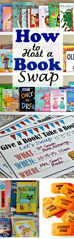 How to Host a Book Swap/Exchange. A great activity to get kids excited about reading. Here are our tips for hosing your own book swap.
