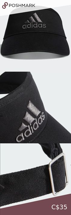 Adidas⛳️Golf⛳️ Visor A GOLF VISOR MADE FOR SUNNY DAYS ON THE COURSE.   Dial in your driver all summer long. This adidas golf visor helps keep the sun out of your eyes so you can stay focused on your next shot. One size fits most 100% cotton twill.  Adjustable back strap with metal slide clip.   Comes from a Smoke🚭Free & Pet 🚫Free Home.🌟  Make an offer🌟 all reasonable offers are welcome or you can bundle 🛍and save 💰on shipping fees📦💛.   All sales are final & sold as is. adidas… Adidas Snapback, Adidas Beanie, Adidas Cap, Black Snapback, Adidas Golf, Blue Adidas, Ae Outfitters, Polo Sport Ralph Lauren