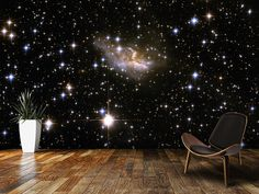 Hubble Interacting Galaxy ESO 99-4 wall mural in-room view