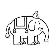 Leuk voor kids kleurplaat ~ Tumbi de olifant