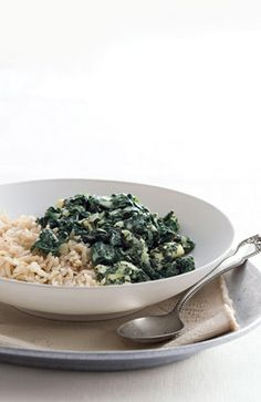 Spinach and brown rice - simple, healthy and delicious!