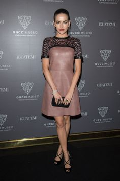Camilla Belle at the cocktail reception for the Gucci Museo Forever Now Exhibition.