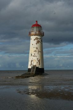 Talacre Beach, North Wales-'Point of Ayr' Light has stood in various incarnations since 1776, watching ships make the trek across Liverpool Bay from the Welsh town of Lllandudno. Abandoned in 1840, it's said to be haunted.