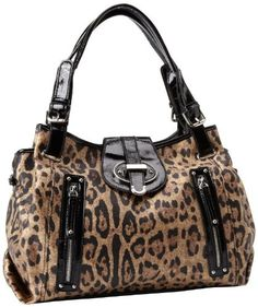 8e137a32d Nine West Zipster Satchel,Brown Multi/Black,One Size - Top-Handle Bags