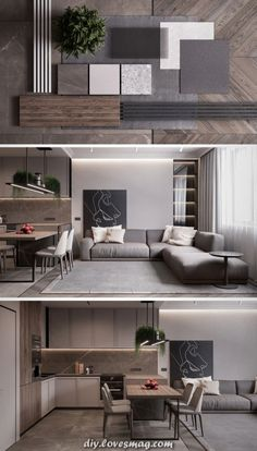 Home Design Diy, Home Room Design, House Design, Small Apartment Interior, Small Apartment Design, Kitchen Room Design, Dining Room Design, Home Living Room, Living Room Decor