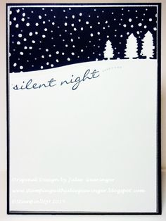 Stamping with Julie Gearinger: Silent Night- Stampin' Up! card created using the FMS200 Sketch along with the new stamp set, Jingle All the Way and new Sleigh Ride Edgelits :-)
