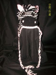 Toddler Zebra hat. If you are interested in this hat or would like to make a request for a hat. You can contact me on my business page on facebook. Jennifer's Unique Crochet.