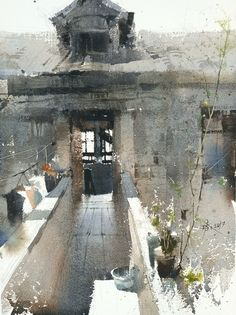 【鎮遠古鎮寫生最喜歡的一張】plein air ancient Zhenyuan town , 37 X 27 cm , favorite piece,  by 簡忠威 Chien Chung-Wei