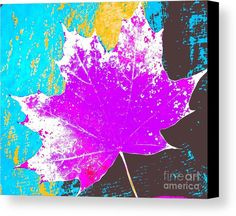 Maple Leaf Canvas Print featuring the photograph Autumn Brights by Onedayoneimage Photography