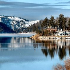 Big Bear Lake is beautiful year-round! Enjoy boating on the lake in the summer, and skiing in the mountains in the winter!