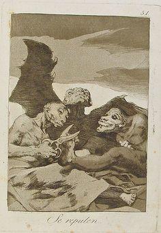 Francisco de Goya - Se repulen, 1799. Los Caprichos nº 51.