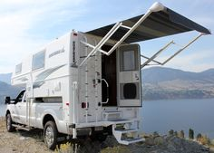 Rear power awnings are standard for special edition Northern Lite campers