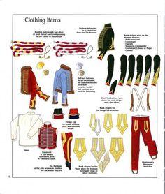Capi di vestiario ed accessori ussari 1804-1812
