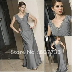 be657e75025 With A Wrap Chiffon A-line Flowers Natural Waist Long Sleeveless Mother Of  The Bride Dress - Shedressing.com