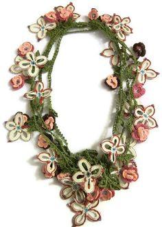 Freeform Crochet, Irish Crochet, Hand Crochet, Knit Crochet, Crochet Crafts, Crochet Projects, Crochet Lace Collar, Bruges Lace, Crochet Crowd