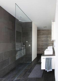 walk in shower- zo zou ook kunnen, vanwege onze smalle badkamer