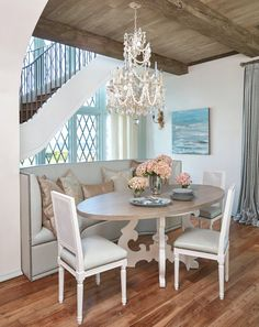 A Custom Built In Banquette Defines The Neighboring Dining Area. Photo By  Jean Allsopp.