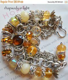 ON+SALE+citrine+bracelet+mystic+bracelet+chain+by+soulfuledges