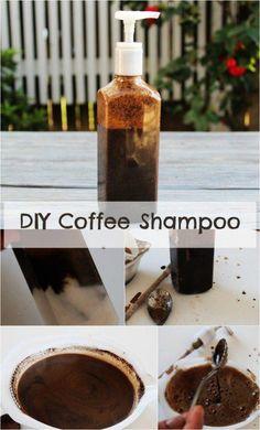 DIY coffee Shampoo and its benefits for healthy hair #BakingSodaForDandruff