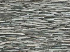 Newly set grey flat stone.
